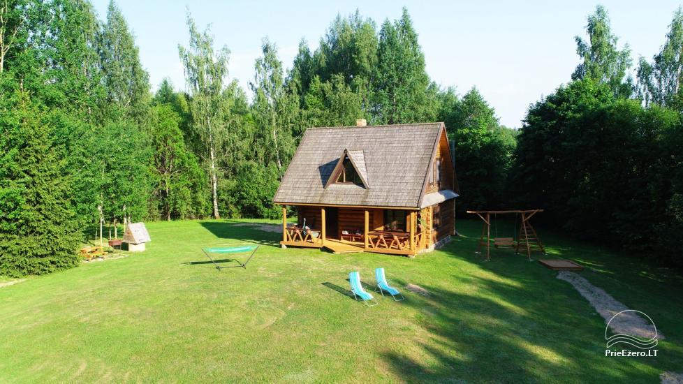 Guļbūve - villa un sauna pie Auslo ezera Zarasu rajonā - sēta AUSLA - 6