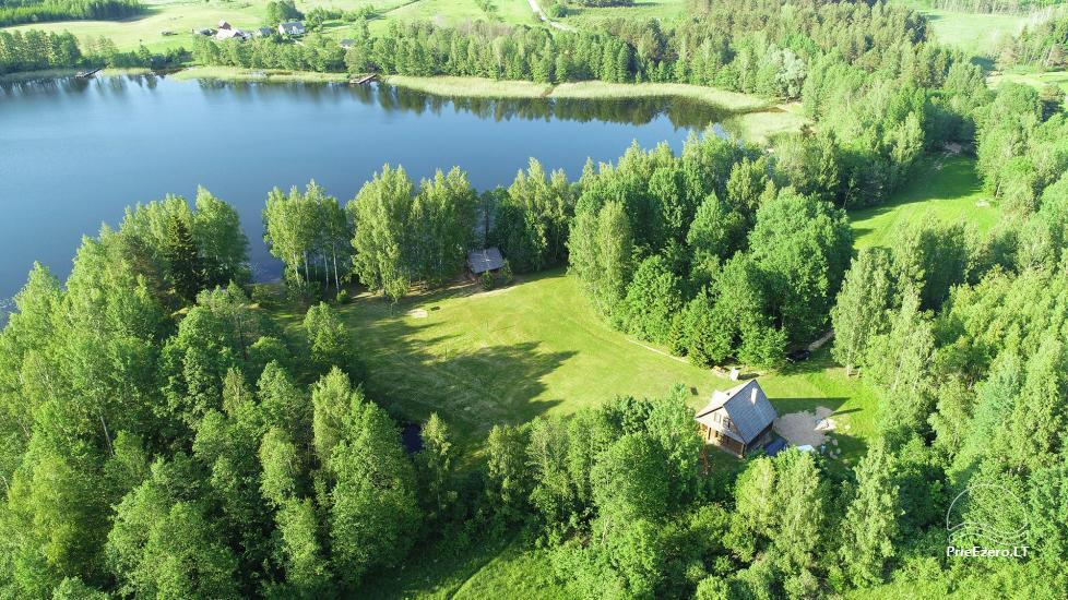 Guļbūve - villa un sauna pie Auslo ezera Zarasu rajonā - sēta AUSLA - 2