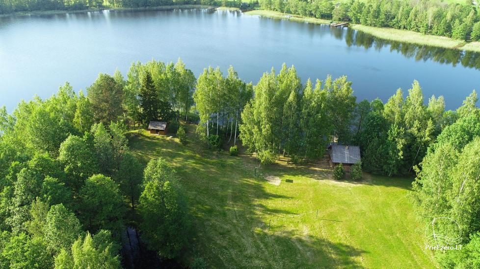 Guļbūve - villa un sauna pie Auslo ezera Zarasu rajonā - sēta AUSLA - 14