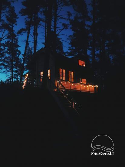 Koka māja ezera krastā Lietuvā - 8