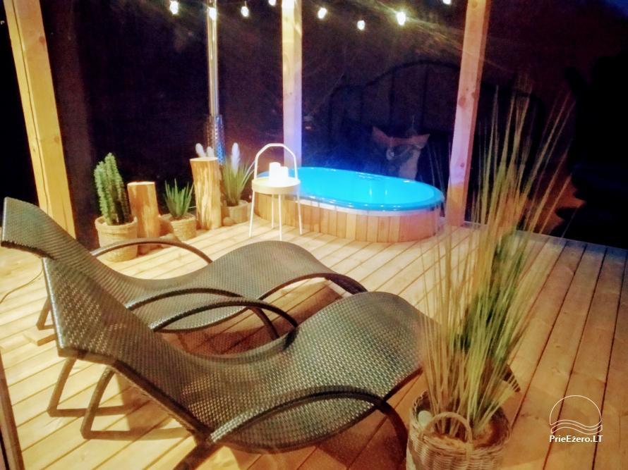 Romantiskas brīvdienas diviem - brīvdienu māja ar saunu, āra džakuzi - 2