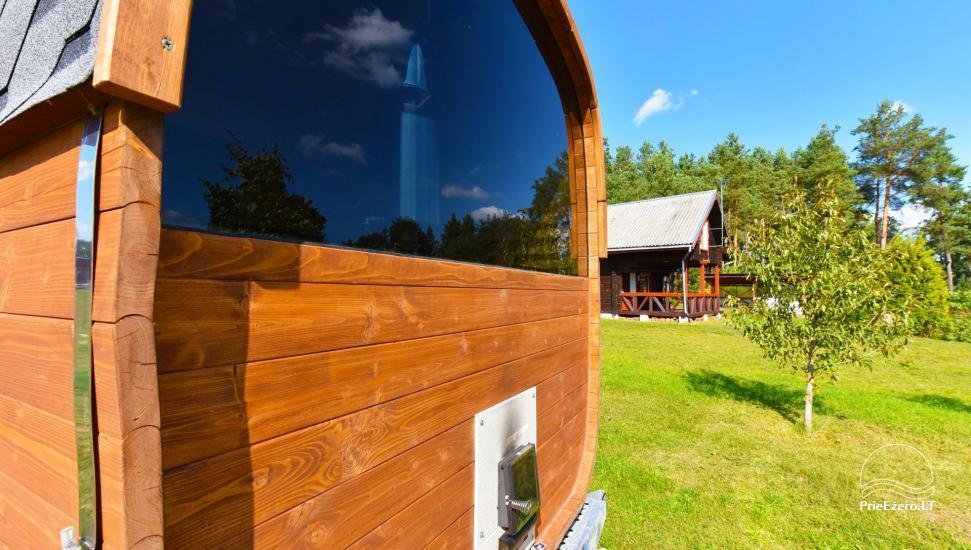 Tiek izīrētas nelielas brīvdienu mājas Molētu reģionā pie ezera - 40