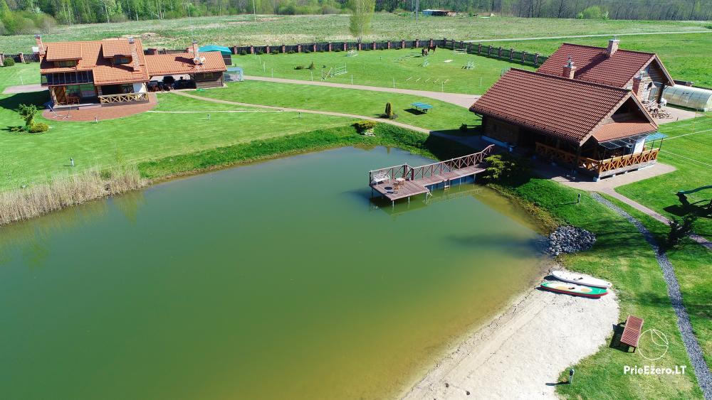 Sēta netālu no Viļņas, ezera krastā: izjādes ar zirgiem, smilšu pludmale, izklaides - 39