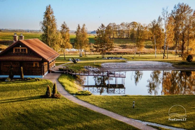 Sēta netālu no Viļņas, ezera krastā: izjādes ar zirgiem, smilšu pludmale, izklaides - 44