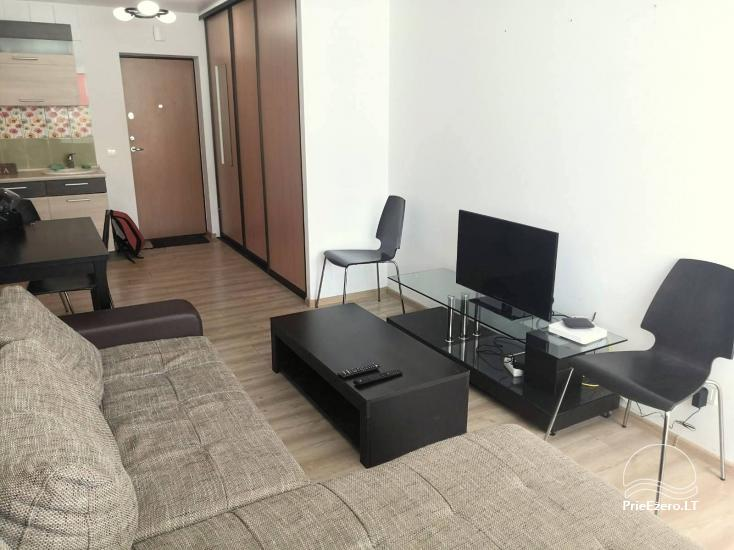 Tiek izīrēts dzīvoklis Druskininkos renovētā mājā. Kabeļtelevīzija, Wi-Fi, 5min. uz mūzikas strūklaku - 2