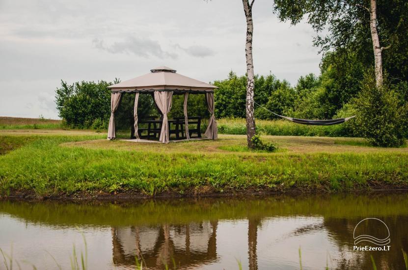 Lauku sēta Didvejo ar dīķi pagalmā - 4