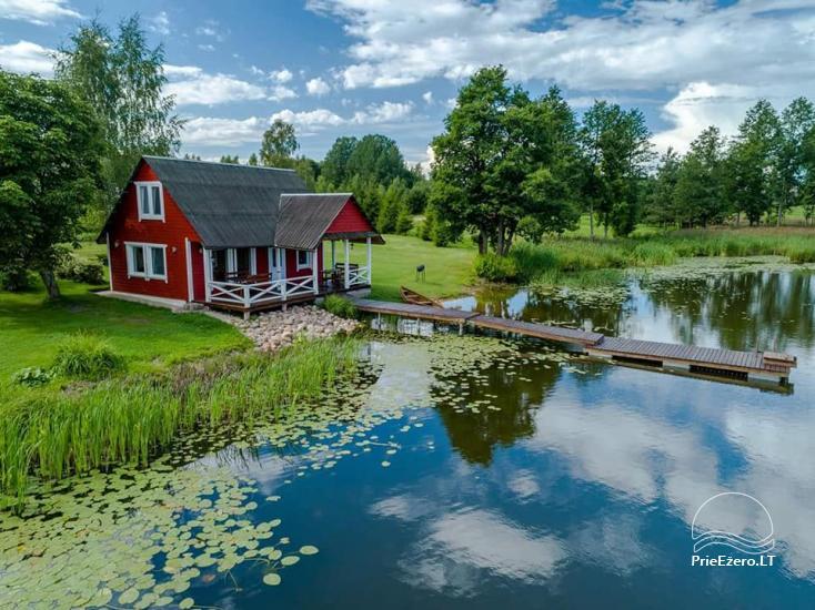 Lauku māja rajona Zarasai pie ezera Neceskas - 1