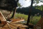 Izīrē pirts un kupola mājas ezera krastā - 3
