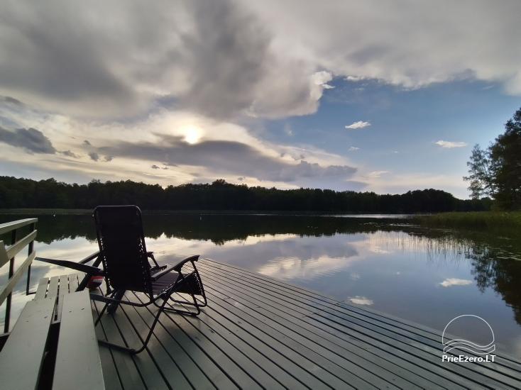 """Vilko namai"" Zarasai rajonā pie Uolis ezera - 1"