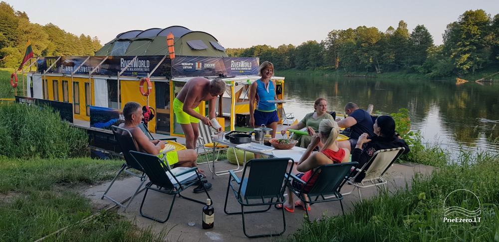 Plosta NEMO noma Aviris ezerā: naktsmītnes, ēdināšana, sauna, svinības! - 10