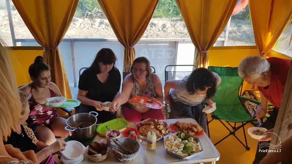 Plosta NEMO noma Aviris ezerā: naktsmītnes, ēdināšana, sauna, svinības! - 33