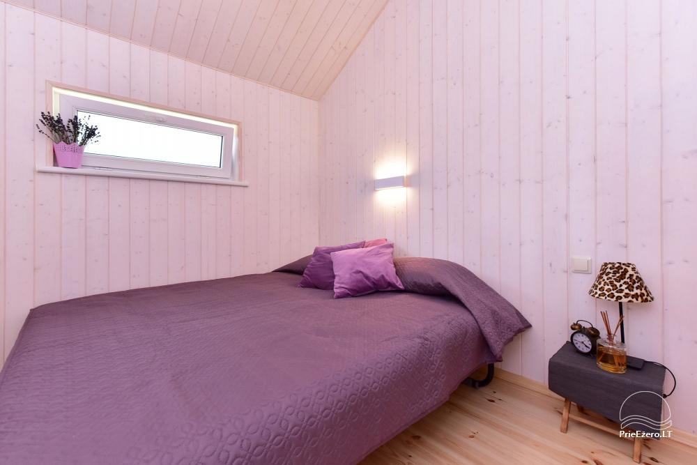 4 gultu kotedžas ar visām ērtībām ezera krastā netālu no Plateliai Mint4Rest - 4