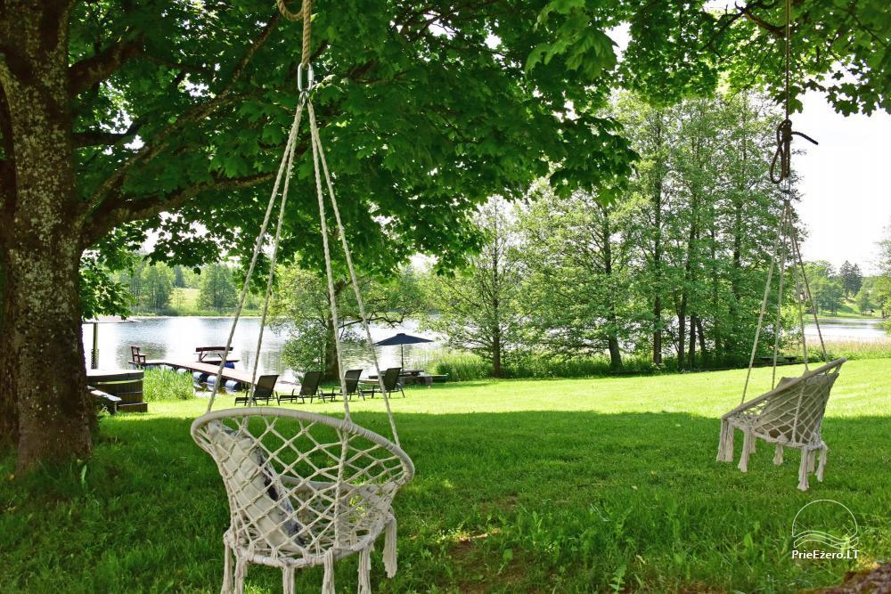 4 gultu kotedžas ar visām ērtībām ezera krastā netālu no Plateliai Mint4Rest - 8