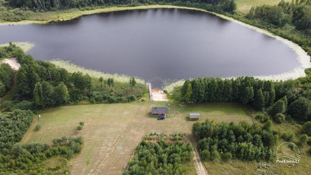 Privāta viensēta Utenas rajons. VillaRedvita ezera krastā. Bez kaimiņiem - 23