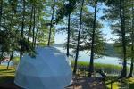 Izīrē kupola māju Alītas reģionā, netālu no Didziuļa ezera