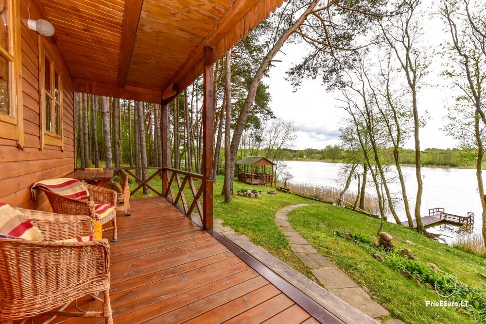 Brīvdienu mājas un pirts sētā Moletai rajonā pie ezera Geliai Žemuogynė - 19
