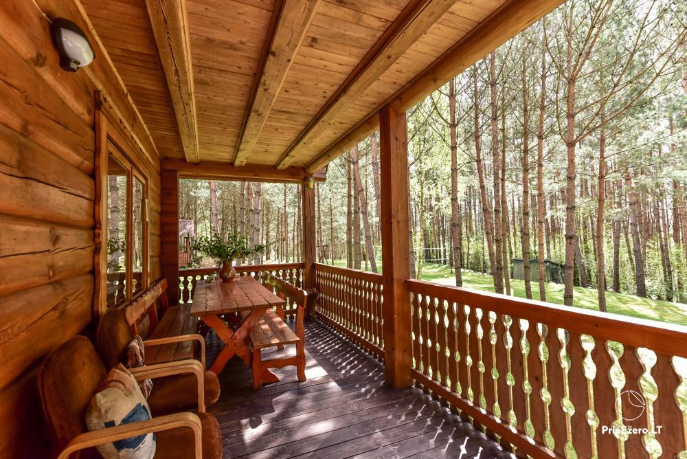 Brīvdienu mājas un pirts sētā Moletai rajonā pie ezera Geliai Žemuogynė - 6