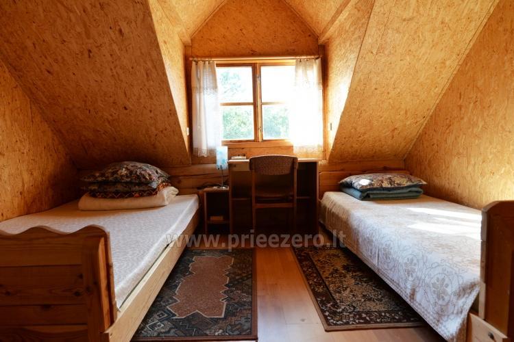 Brīvdienu mājas un pirts sētā Moletai rajonā pie ezera Geliai Žemuogynė - 13