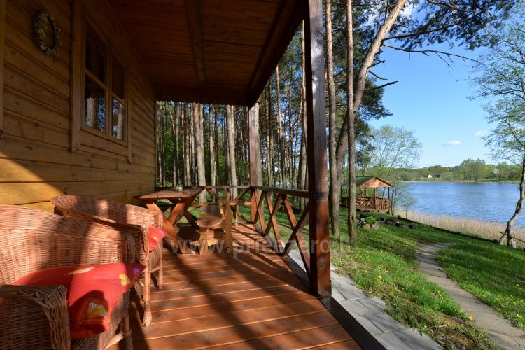 Brīvdienu mājas un pirts sētā Moletai rajonā pie ezera Geliai Žemuogynė - 3