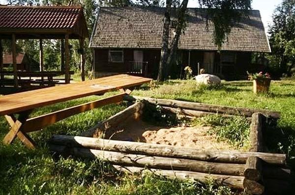 Sēta pie dziļākais ezers Lietuvā Jono sodyba - 4