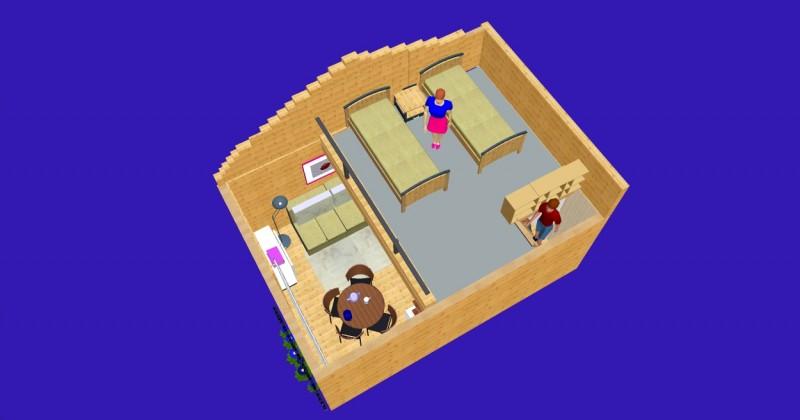 Istabu ire Sventoji villa Medeina - 16