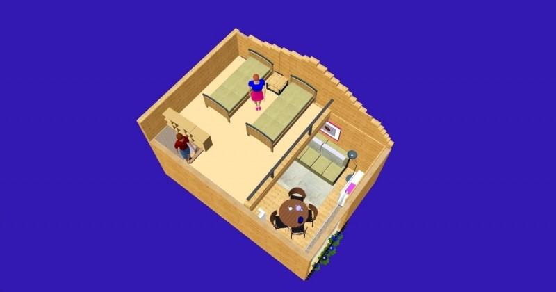 Istabu ire Sventoji villa Medeina - 22