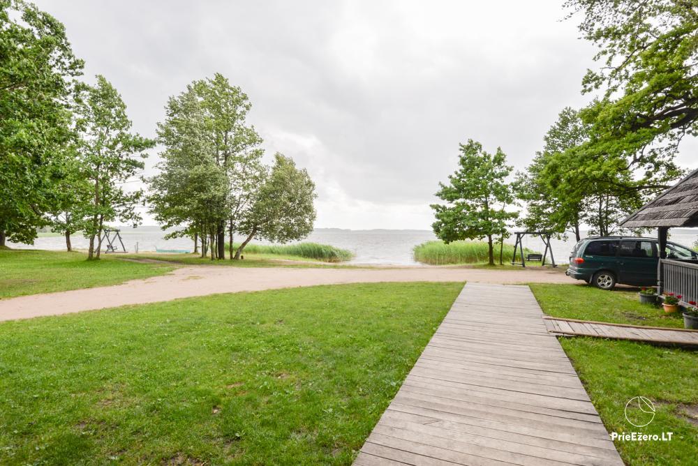 Brīvdienu parks Telšių rajonā ezera krastā Lūkstas Rest Park - 15