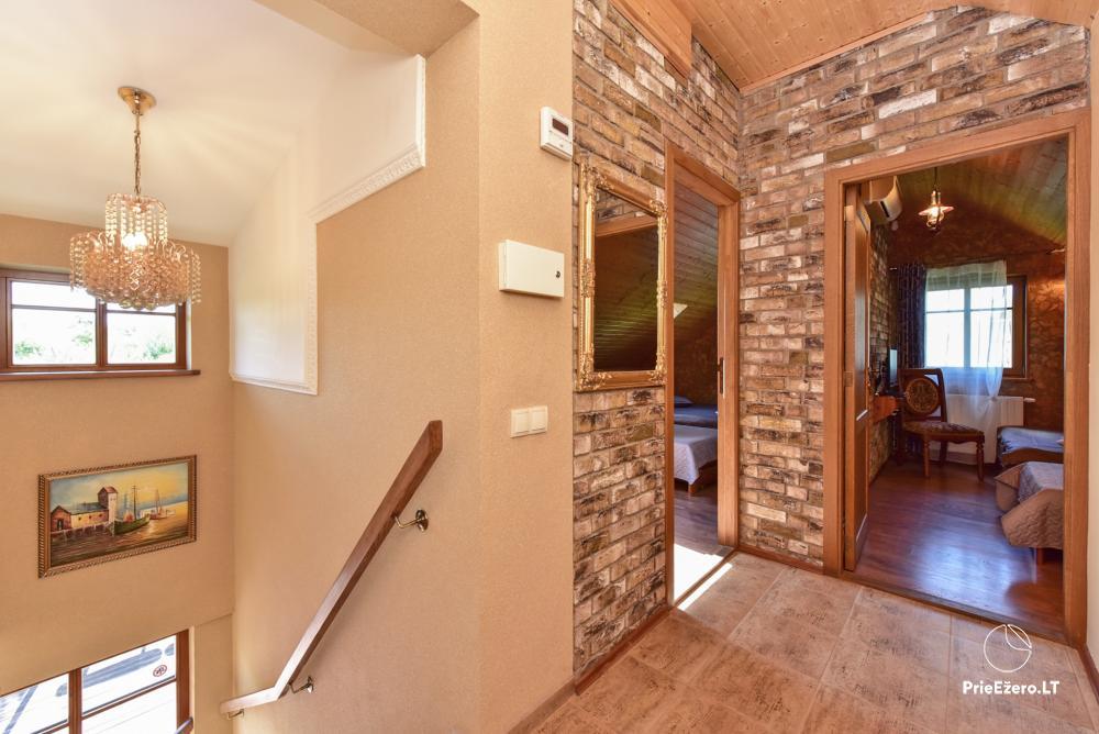 Villa atpūtai un svinībām - Spa Villa Trakai: zāle, džakuzi un sauna, izmitināšana - 22