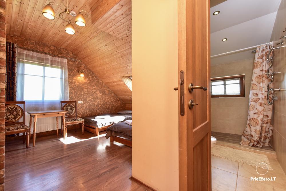 Villa atpūtai un svinībām - Spa Villa Trakai: zāle, džakuzi un sauna, izmitināšana - 29