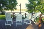 Māja uz ezera krastu: pirts, istabas, banketu zāle 30 personām, kajaki - 6