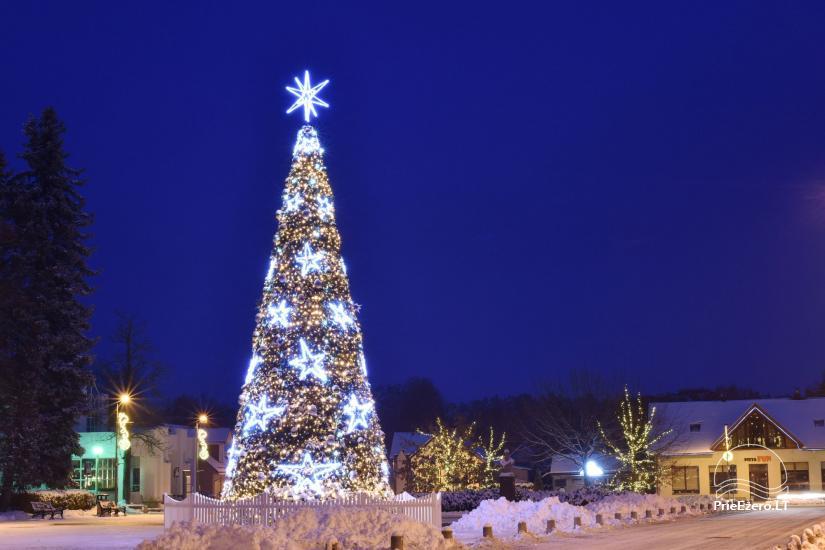 Ziemassvētku eglīte atklāšanas notikums Birstonas - 5