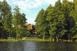 Pirts un karstā baļļa kādā sētā Holandes parks krastā ezera - 5
