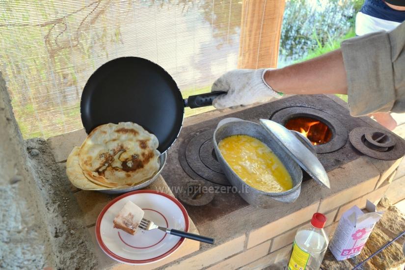 Izglītības zivju zupa cooking programma sētā Gaidelių sodyba - 5