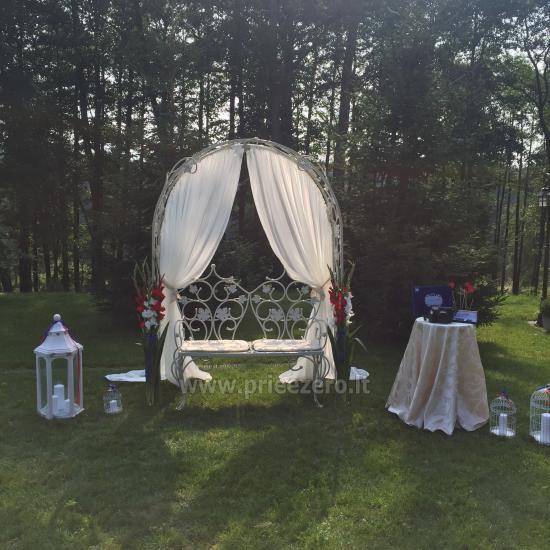 Lauku seta Varenas rajona kāzas ar lielu banketu zāle - 2