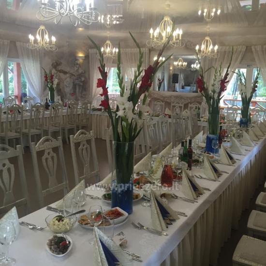 Lauku seta Varenas rajona kāzas ar lielu banketu zāle - 3
