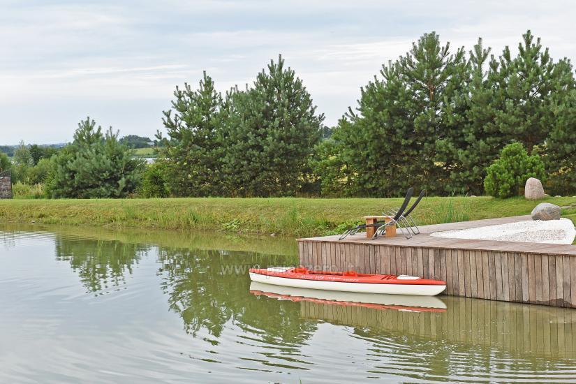 Lauku sēta pie ezera Vilkaviskio reģionā, Lietuvā - 2