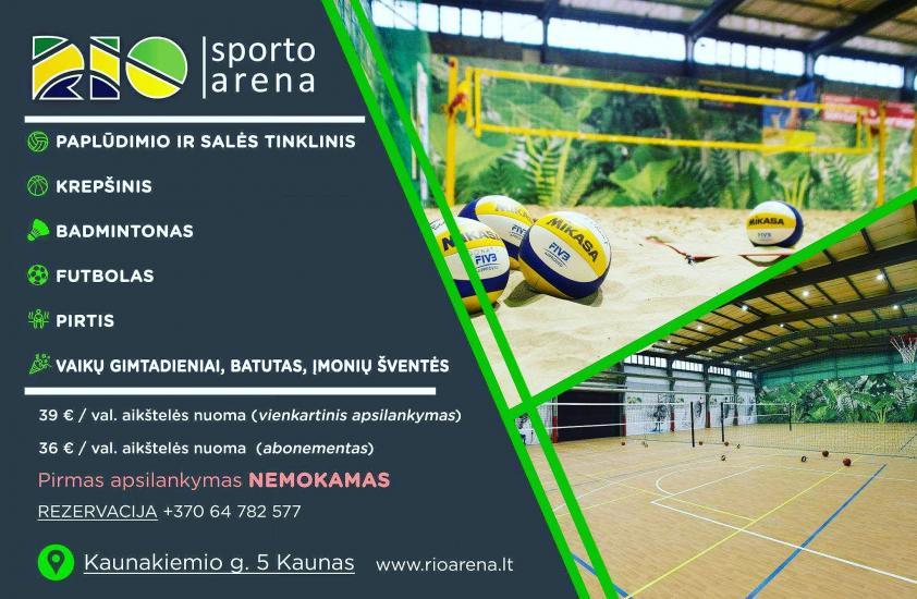 Volejbola laukumi Kauņā RIO arena - 1