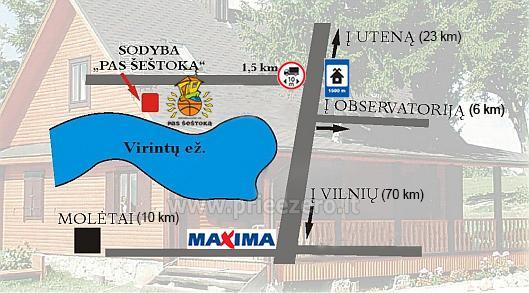 PAS ŠEŠTOKĄ villa Molėtų rajonā pie ezera (80 vietas) - 114