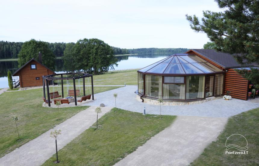 PAS ŠEŠTOKĄ villa Molėtų rajonā pie ezera (80 vietas) - 9