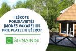 """Banketu zāle un konferenču zāle atpūtas nami pie ezera Plateliai """"Sienainis"""""""