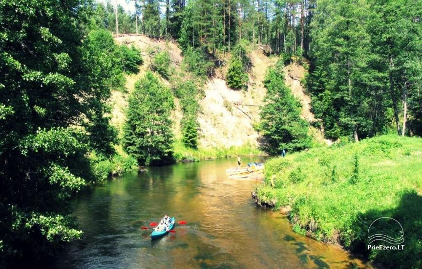 Ekskursijas un makšķerēšana, kanoe noma. Sēta Dzukijos Uoga - 2