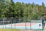 Tenisa korts lauku mājā pie ezera Plateliai Saulės slėnis