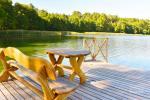 Setas teritorija, ezers, mols, volejbola laukums, galda teniss - 11